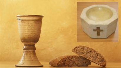 Bread, Wine and Baptismal Font : Two Avenues of Grace