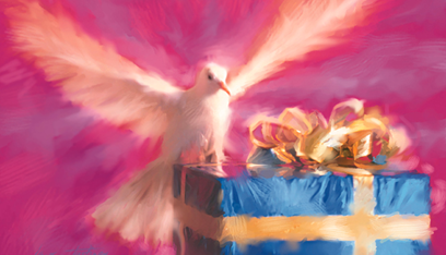 Holy Spirit Dove and a Gift: Nine Gifts of Supernatural Power
